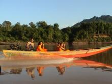 vedette rapide sur le Mékong - Laos