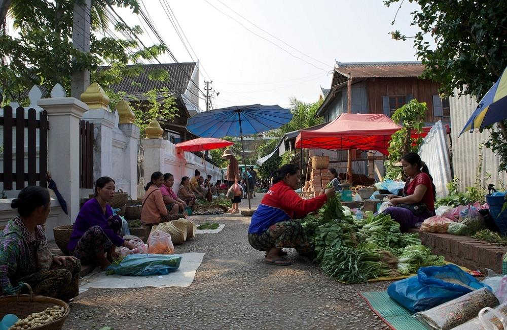 marché locale Luang Prabang